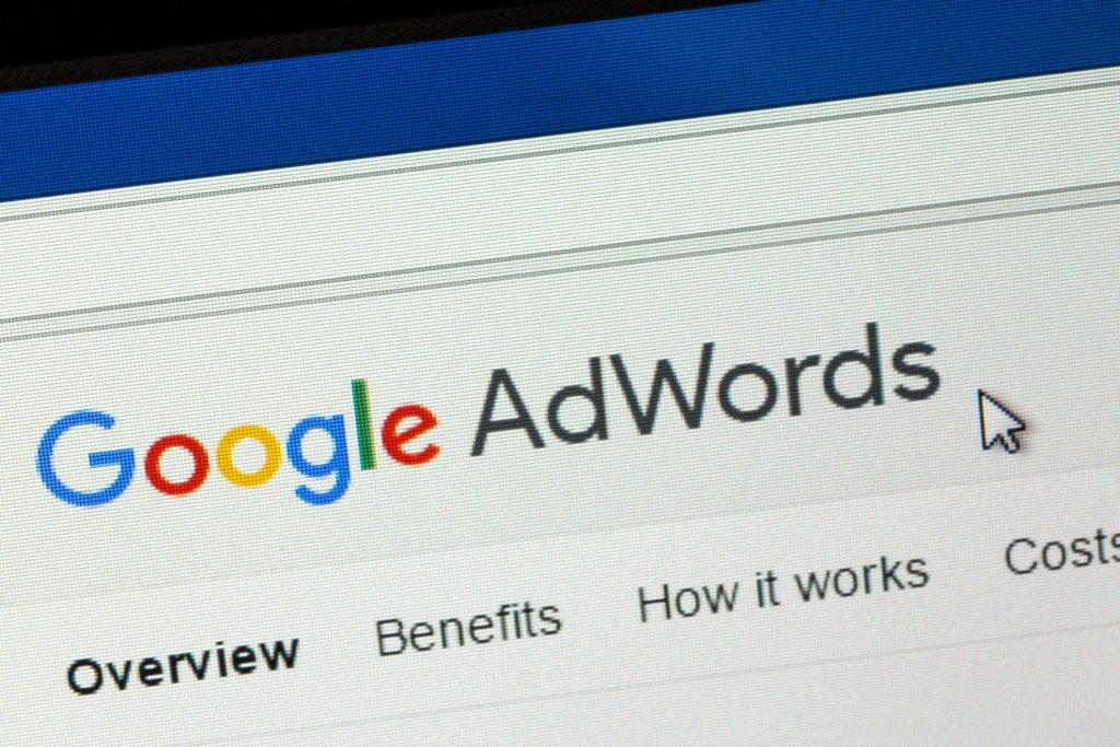 Google adwords on screen