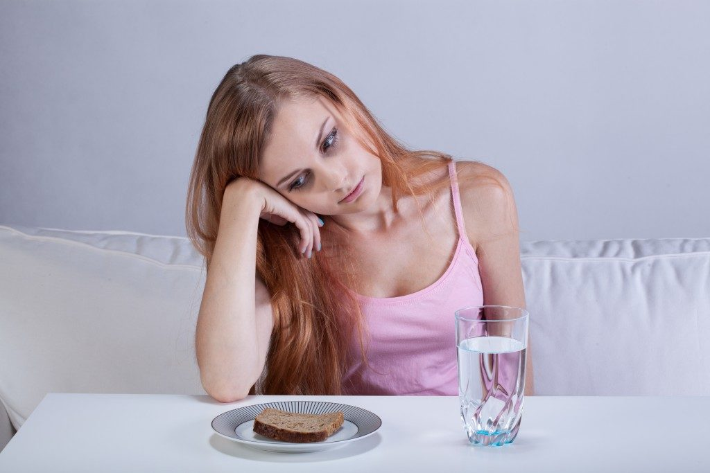 Suffering from eating disorder
