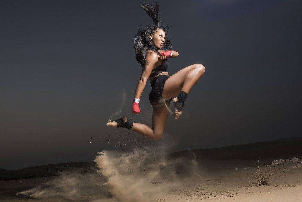 Female martial arts athlete