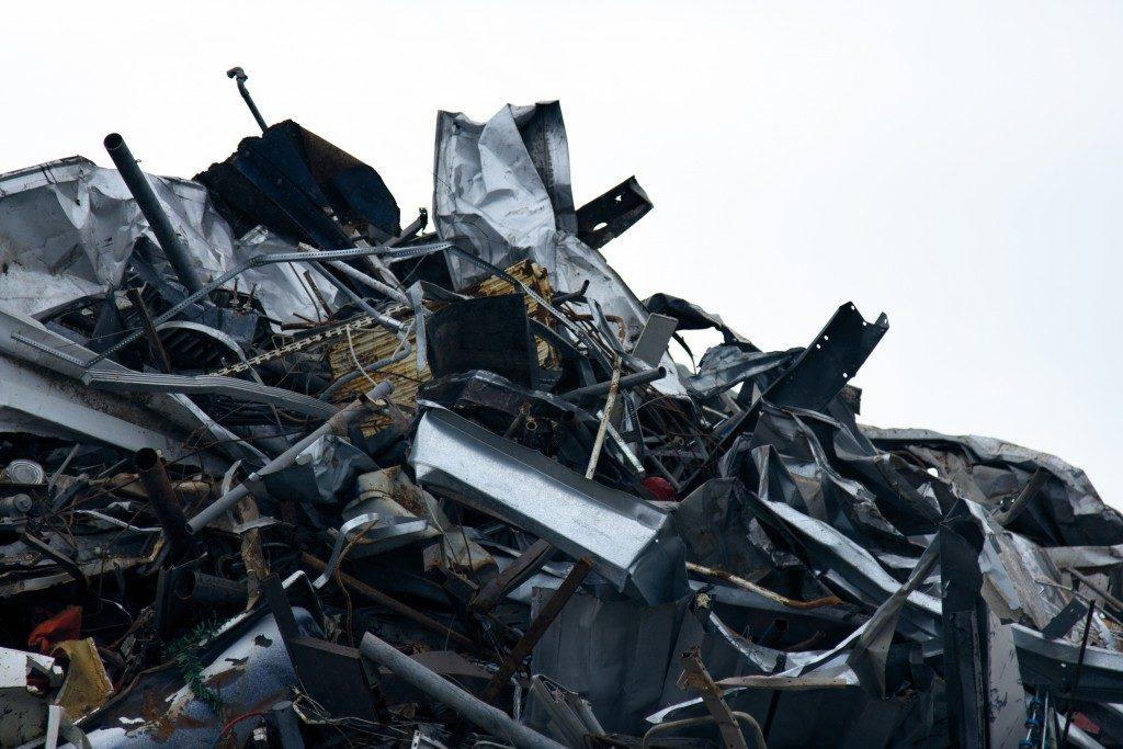 scraps of metal piled together