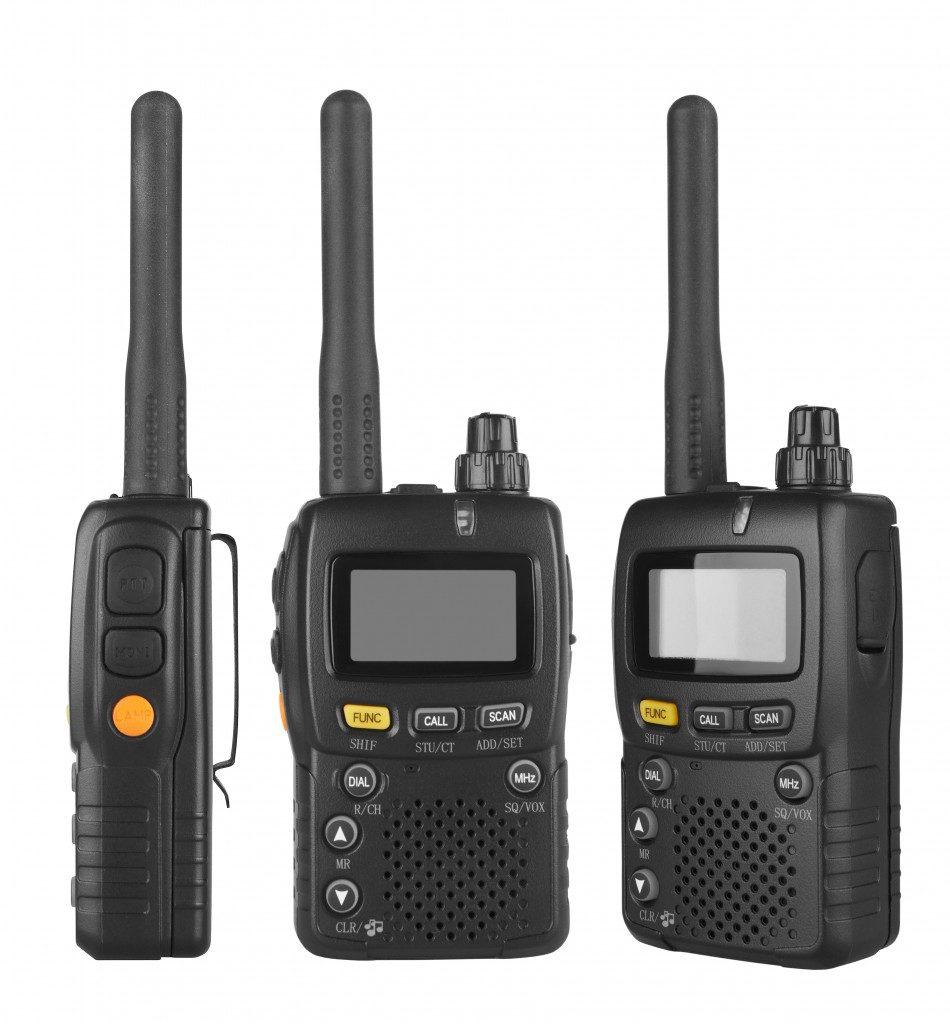 Portable radio transceiver
