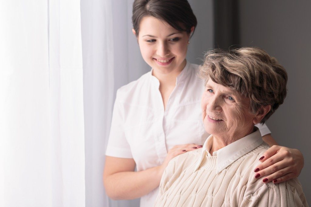 caring for an elder person