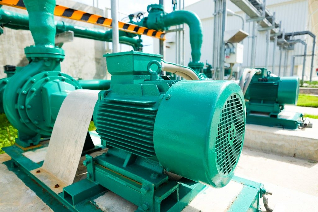 Treated water centrifugal pump in fuel oil tank farm of power plant industry