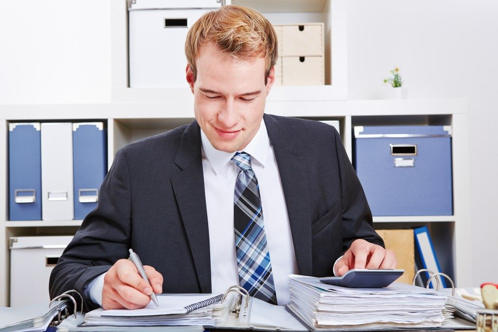 Accountant doing tax audit