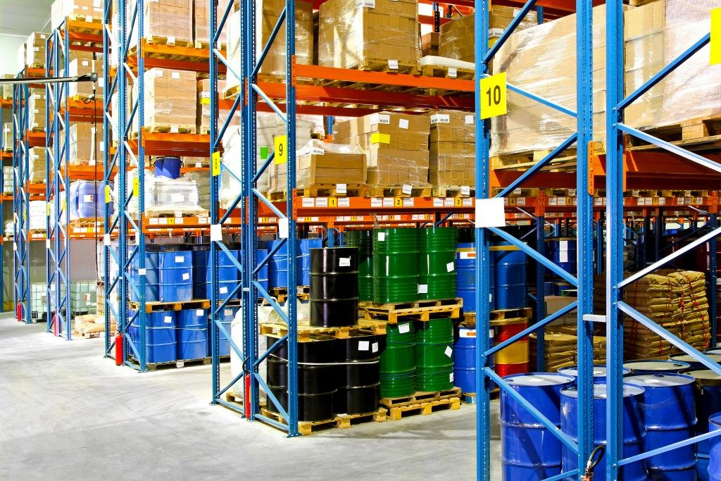 supplies inside the warehouse