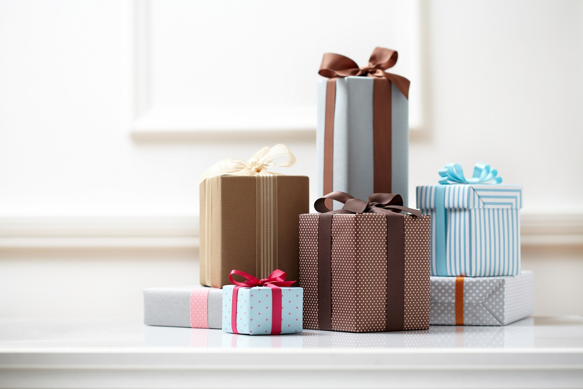 boxes of gifts