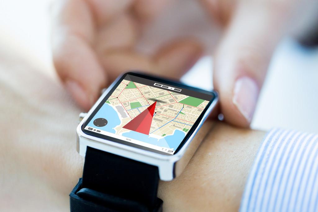 close up view smart watch